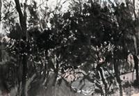 树丛系列-八 镜心 水墨纸本 (forest 8) by xu jiacun