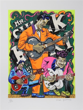 mr. chuck berry by red grooms