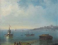 ansicht des bosporus mit istanbul by giovanni battista