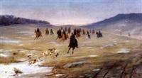 ketun metsästys (the hunt) by edouard alexandre alexis ankarcrona