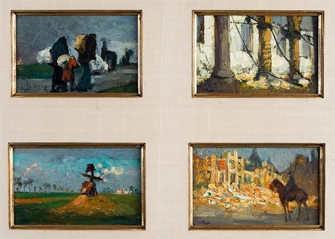 quatre scènes de guerre 4 works by kurt peiser