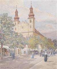 fronleichnamsumzug in maria lanzendorf by hans götzinger