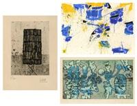 sans titre, ombres sur la plage; composition (3 works) by césar
