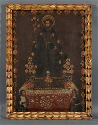st. antonio hermitano by peruvian school-cuzco (18)
