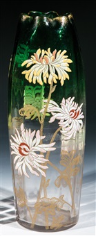 vase mit chrysanthemen by legras (co.)