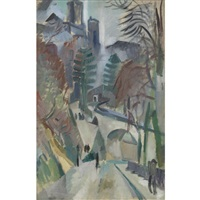 paysage de laon by robert delaunay