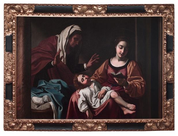 virgen con el niño y santa ana by antiveduto grammatica
