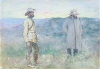 cronje and major albrecht by mortimer luddington menpes