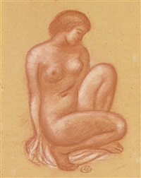 jeune fille accroupie by aristide maillol