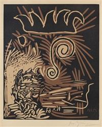 faune et vieux roi (le vieux bouffon) by pablo picasso