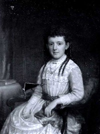 portrait of a little girl in blue by james sullivan lincoln