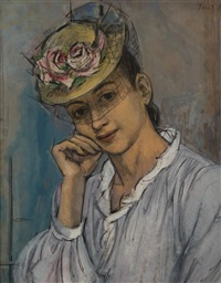 portrait of a lady in a hat by tully filmus