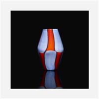 rare bi-pezzati vase by fulvio bianconi