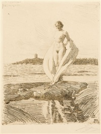 the swan (le cygne) by anders zorn