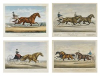 des courses de trot (4 works) by john james cameron