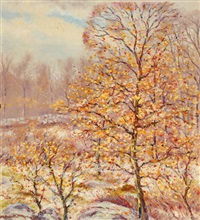 autumn snow by hugo melville fisher