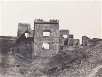 thèbes. palais de karnak. sculptures extérieures du sanctuaire de granit by maxime du camp