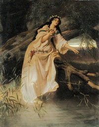 ophelia am bachufer by ferdinand piloty the younger