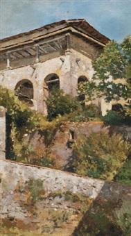 paesaggio con torrione by michele cammarano