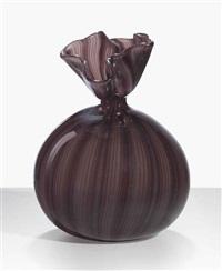 filigrana vase by vetreria fratelli toso