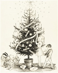 a happy christmas to you all by ernest h. shepard