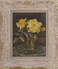 yellow roses by clarence hinkle