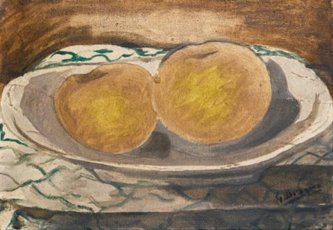 deux pommes by georges braque