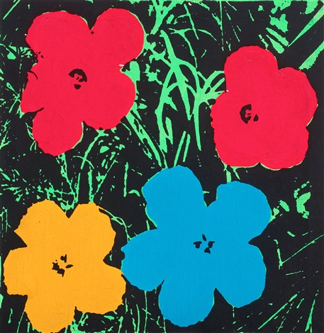 andy warhol flowers by richard pettibone