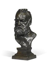 buste de victor hugo dit a l'illustre maître (réduction avec piédouche intégré) by auguste rodin