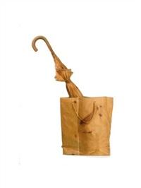 umbrella (+ paper bag; 2 works) by livio de marchi