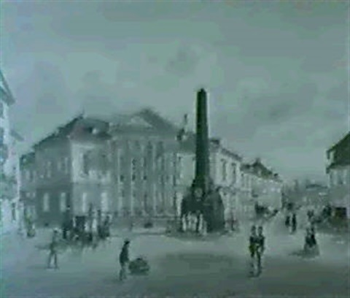 karlsruhe rondellplatz und verfassungssaule by caspar obach