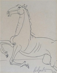 study of a galloping horse by robert colquhoun