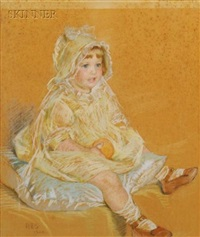 boy in a sailor suit (+ baby girl; 2 works) by rosina emmet sherwood