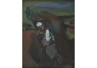 va, vieille mere by georges rouault