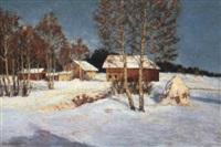 a winter landscape by christian baumgartner