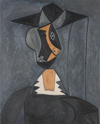 woman with hat, 1942 by mike bidlo