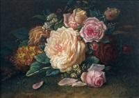 stillleben mit rosen by jean-baptiste robie