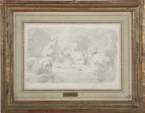 study of supper at emmaus by jean honoré fragonard