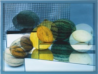 circles and squares (a tasteful organic melons arrangement) 1 by elad lassry