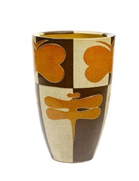 covered vase by miyanohara ken