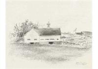 lester's barn by yasuo kuniyoshi
