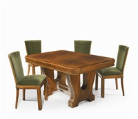dining table and four chairs by gio ponti