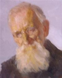 porträt eines alten mannes mit weißem bart by heinrich reifferscheid