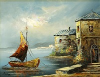 port scenery by allron majoree