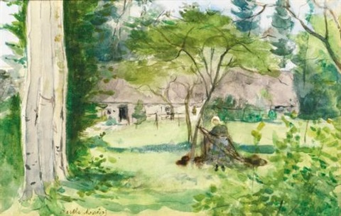 paysage by berthe morisot