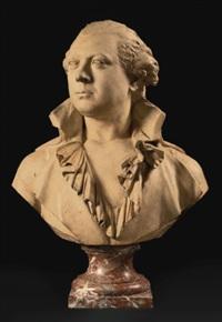 a bust of corbin de cordet de florensac by augustin pajou