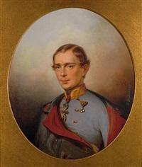portrait von kaiser franz josef im jahr der thronbesteigung by josef richter