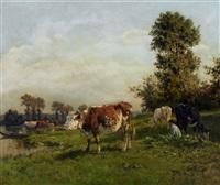 paisagem com vacas by alfred robert quinton
