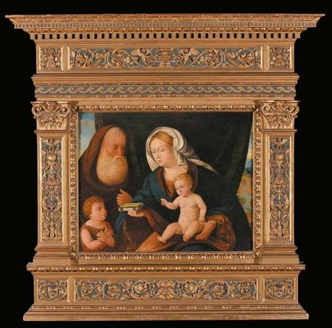sacra famiglia con san giovannino by giovanni bellini
