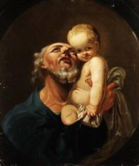 heiliger joseph mit dem jesuskind by michael ignaz mildorfer